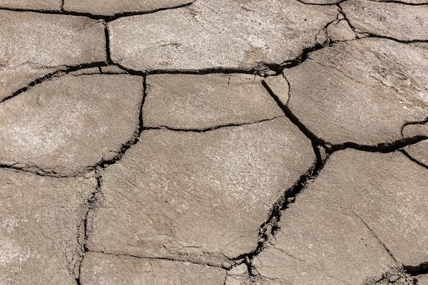 乾燥した、割れた地球の背景