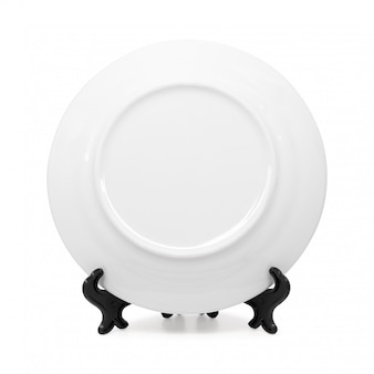 セラミック皿と白い背景で隔離のホルダー。