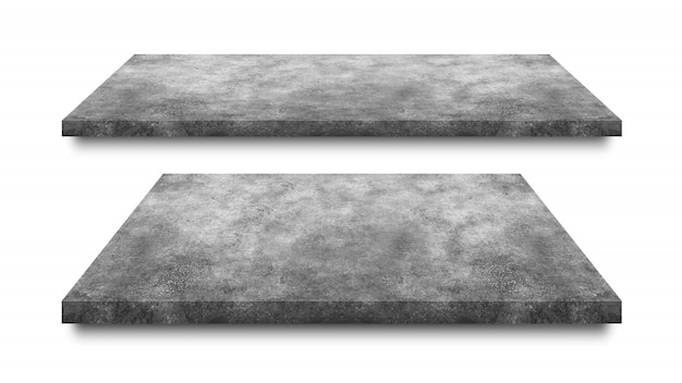 セメントの床、白で隔離