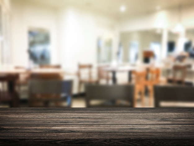 レストランやデザートカフェのインテリアストアの背景をぼかし