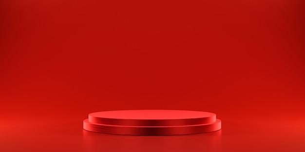 製品を表示するための赤いプラットフォーム
