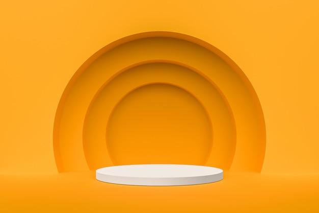 製品を表示するための抽象的な白い台座