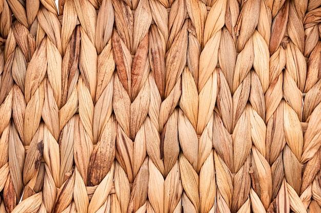 Деревенская натуральная плетеная текстура