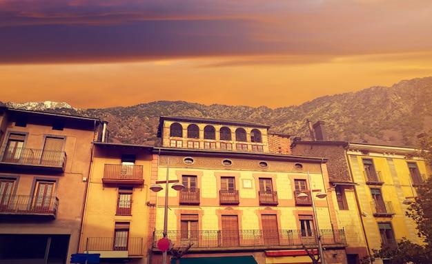Андорра ла велла фасады пиренеи