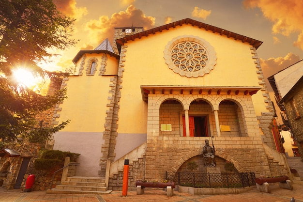 Церковь сан-эстеве в андорра-ла-велья