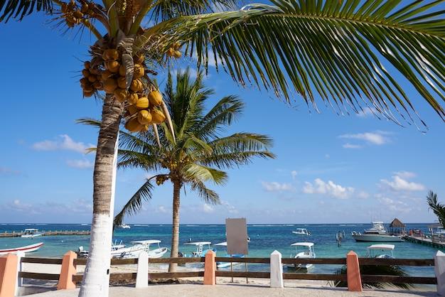 Пляж пуэрто морелос ривьера майя мексика