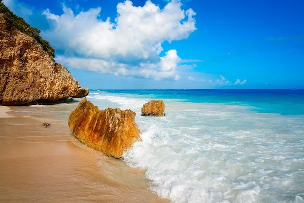 Тулум пляж пальмы на ривьере майя