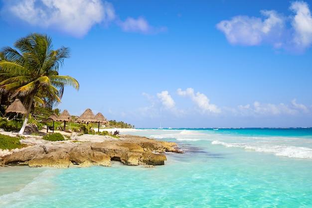 Тулум карибский пляж на ривьере майя