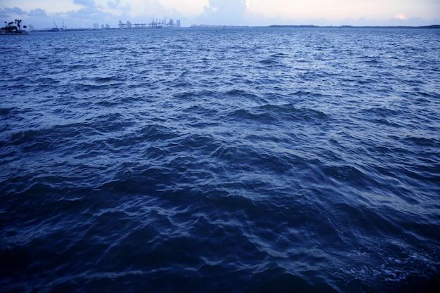 マイアミビーチマイアミ市からの遠景