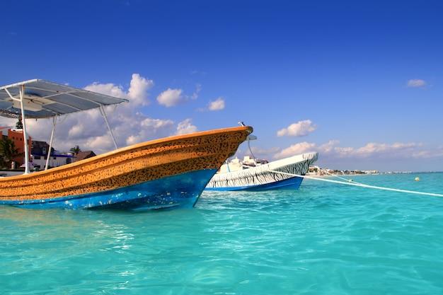 Пляж пуэрто-морелос бирюзовый карибское море