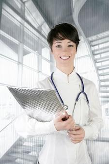銀の現代未来医師女性聴診器