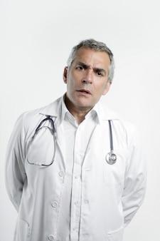 白の医師上級専門知識白髪