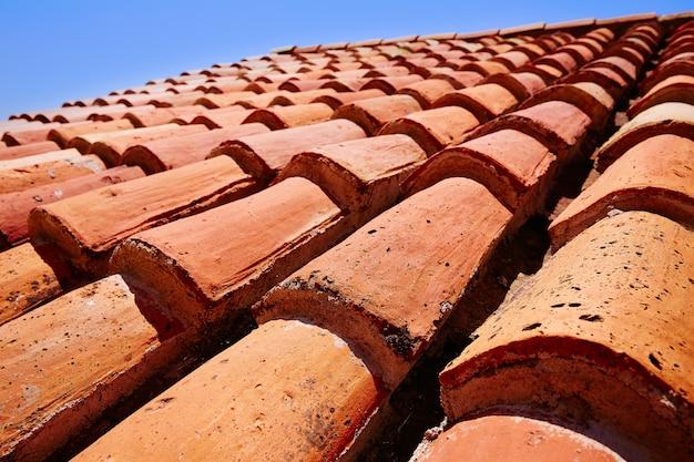 テルエルのアラビア屋根瓦パターンテクスチャ