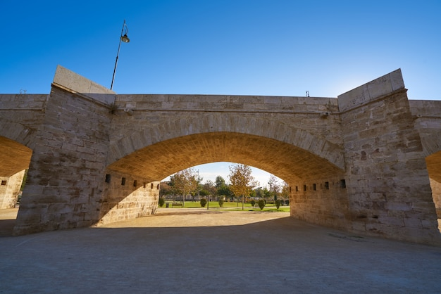 トゥリア公園スペインでバレンシアのセラーノ橋