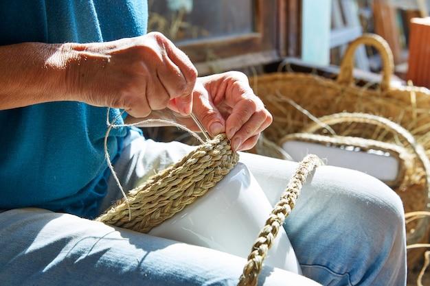 Эспарто халфах трава поделки ремесленник руками