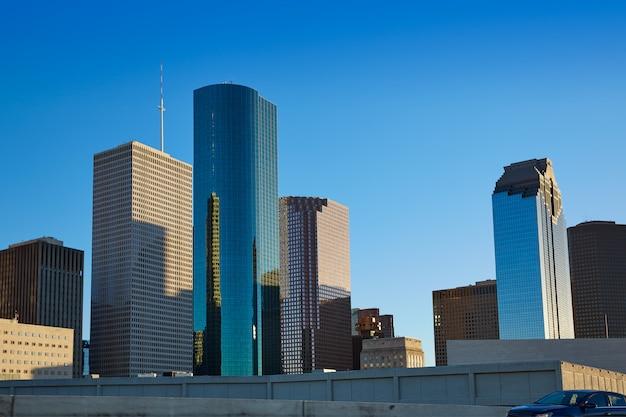 米国テキサス州ヒューストンのダウンタウンのスカイライン