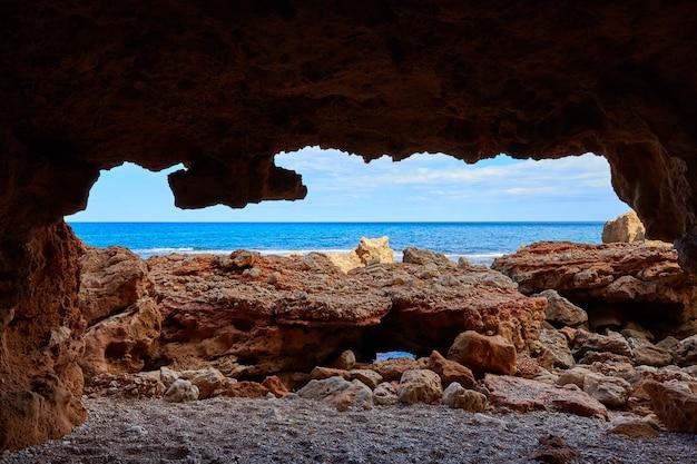 アリカンテのデニアラスロタスビーチ洞窟
