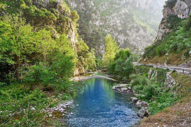 スペインのカンタブリアのデヴァ川