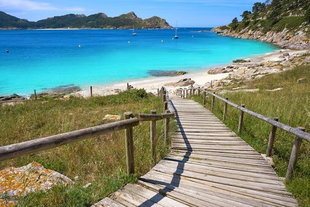Пляж ностра-сеньора на островах сиес, острова виго