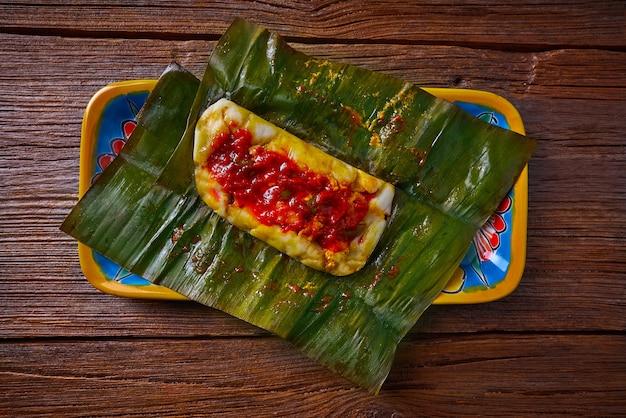 バナナの葉とタマーレのメキシコ料理レシピ