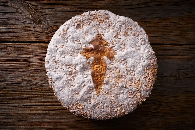 アーモンドケーキのタルタデサンティアゴコンポステラ