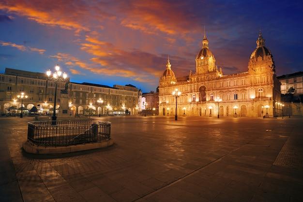 マリア・ピタ広場ガリシアのラ・コルーニャ市庁舎