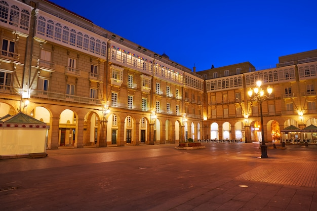 アコルーニャマリアピタ広場ガリシアスペイン