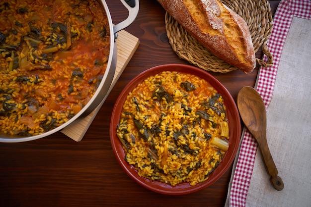 Рецепт риса с мангольдом из валенсии в испании