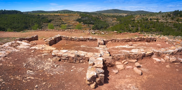Руины торрехон-де-гатова от иберийцев в испании