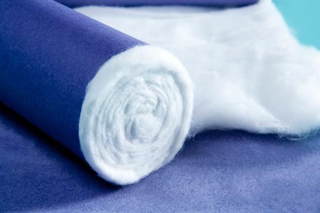 青い圧延医療綿製薬背景