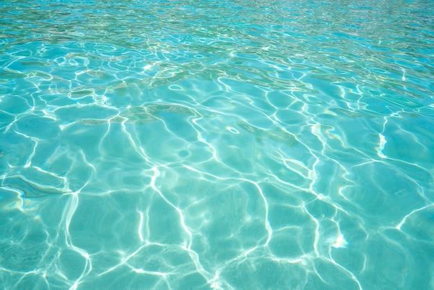 イビサ熱帯澄んだ水のビーチの背景