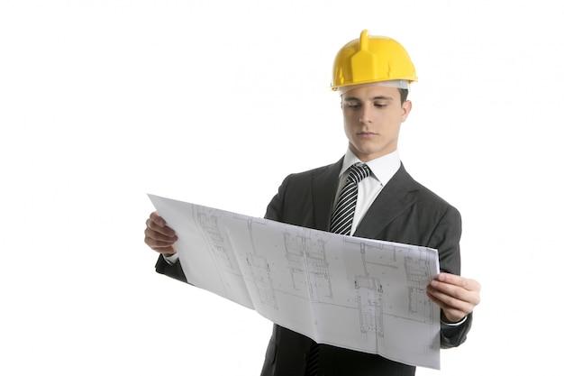 計画を持つ建築家エグゼクティブビジネス人々