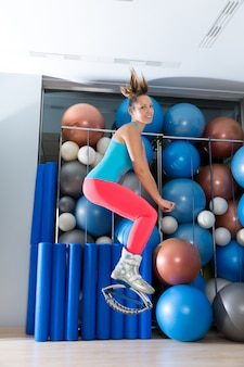 カングージャンプアンチ重力フィットネスブーツの女の子
