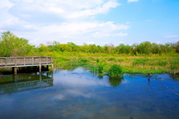テキサス州シュガーランドのカリナン公園で白い湖