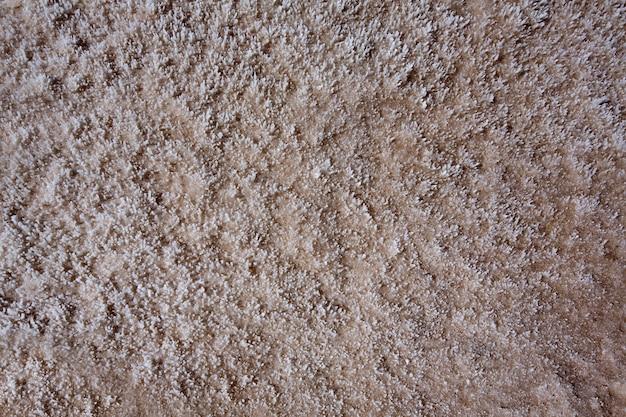 バッドウォーター盆地デスバレー塩テクスチャマクロ