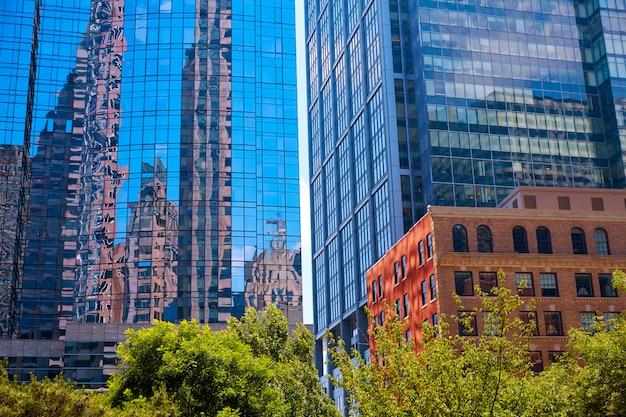 Бостон в зданиях центра массачусетса