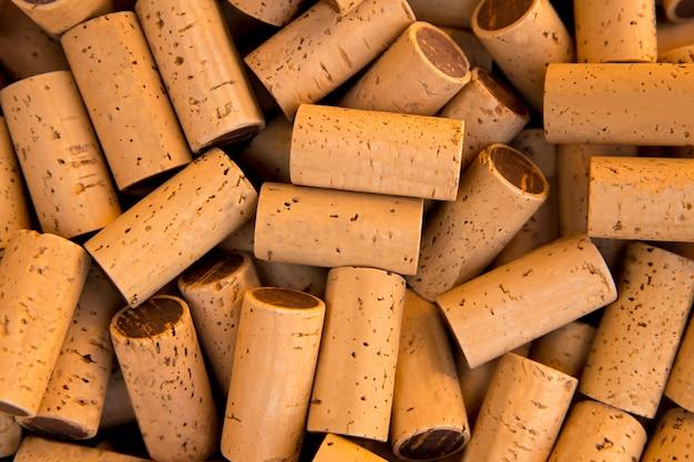ワインの瓶のコルク栓パターンテクスチャ