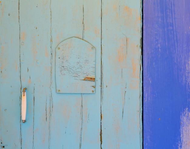 バレアレス諸島の地中海の青いドアの詳細