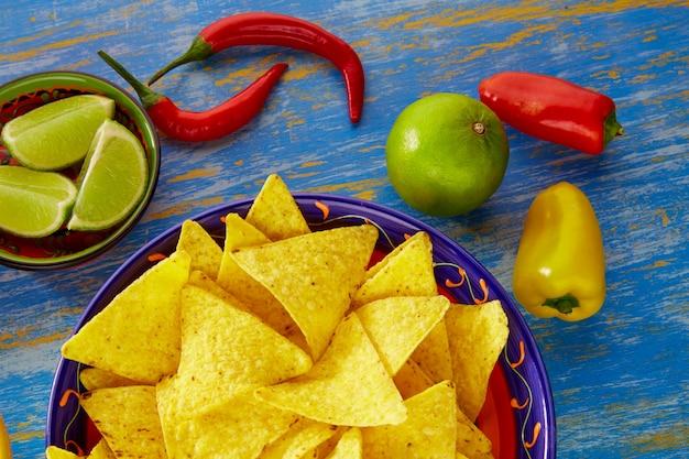ワカモレ唐辛子とメキシコ料理ナチョス