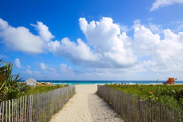 マイアミサウスビーチ入り口フロリダ州米国