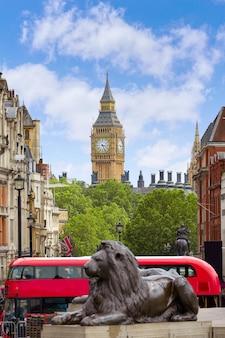 Лондонская трафальгарская площадь в великобритании
