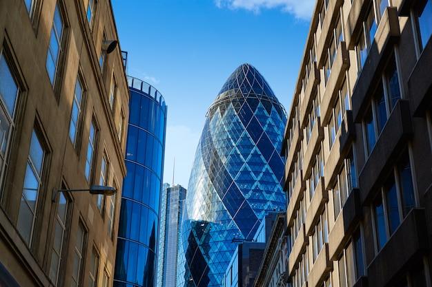 ロンドンの金融街ストリートスクエアマイルイギリス
