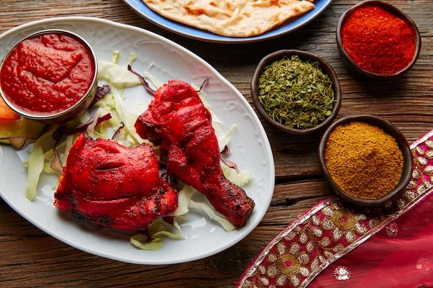 スパイスと鶏のタンドリーインド料理レシピ