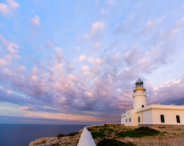 ファロデカバレリア灯台でメノルカ島の夕日