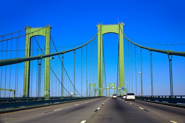 アメリカのデラウェア記念橋道路