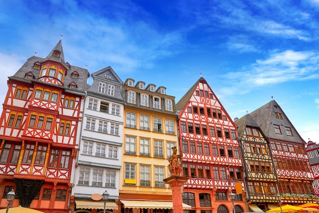 フランクフルトロマーベルク広場旧市街ドイツ