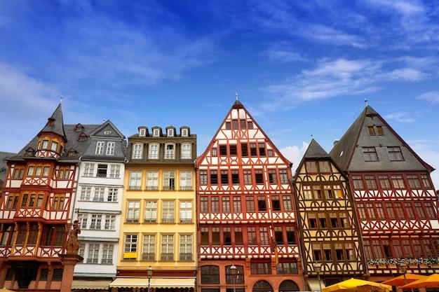 Франкфурт площадь ромерберга старый город германия