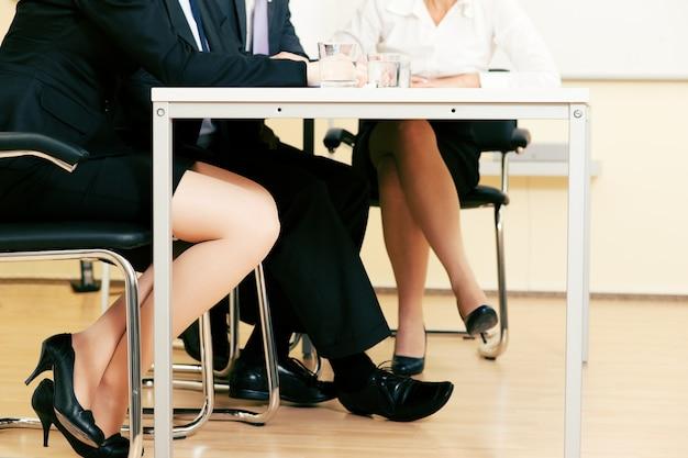 会議のビジネスチーム