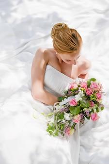 結婚式、花嫁