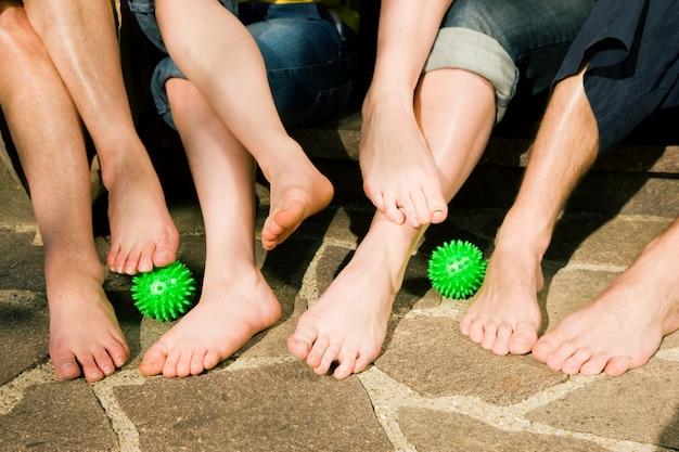 健康な足、足の体操